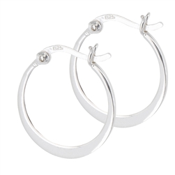 Sterling Silver 3 mm x 20 mm Hoop Earring