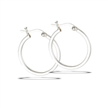 Sterling Silver 2 mm x 25 mm Hoop Earring