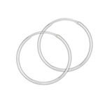 Sterling Silver 1.5 mm x 40 mm Continuous Hoop Earring