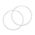 Sterling Silver 1.5 mm x 50 mm Continuous Hoop Earring