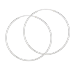 Sterling Silver 1.5 mm x 65 mm Continuous Hoop Earring