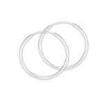 Sterling Silver 2.0 mm x 35 mm Continuous Hoop Earring