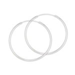 Sterling Silver 2.0 mm x 55 mm Continuous Hoop Earring
