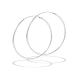 Sterling Silver 1.2 mm x 40 mm Continuous Hoop Earring
