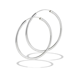 Sterling Silver 2.5 mm x 40 mm Continuous Hoop Earring