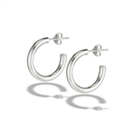 Sterling Silver 3 mm x 20 mm Heavy High Polish Hoop Earring