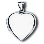 Sterling Silver High Polish Heart Locket