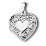 Sterling Silver Victorian Heart Locket