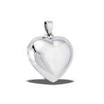 Sterling Silver High Polish Rounded Heart Locket