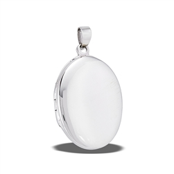 Sterling Silver High Polish Rounded Oval Locket