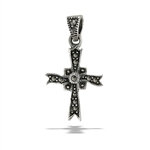 Sterling Silver Small Marcasite Cross Pendant