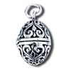 Sterling Silver Filigree Egg Pendant