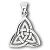Sterling Silver Large Double Triquetra Pendant