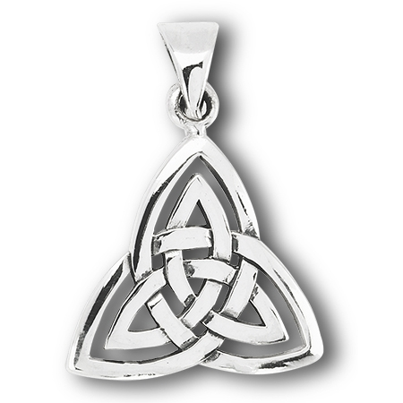 Sterling silver large double triquetra pendant mozeypictures Image collections