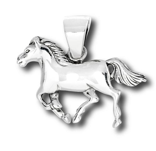Sterling silver horse pendant aloadofball Gallery