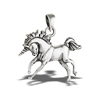 Sterling Silver Prancing Unicorn Pendant
