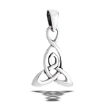 Sterling Silver High Polish Triquetra Pendant