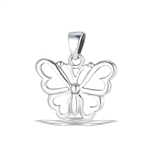 Sterling Silver Petite Butterfly Pendant
