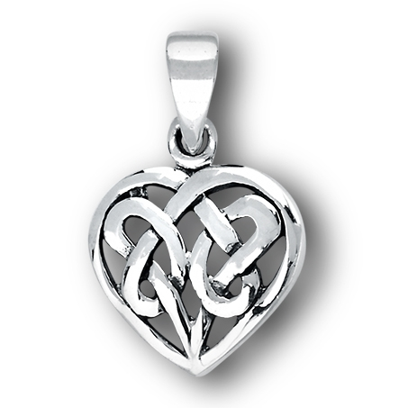 Sterling silver celtic heart pendant aloadofball Images