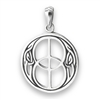 Sterling Silver Double Peace Celtic Pendant