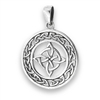 Sterling Silver Celtic Knot With Weave Pendant