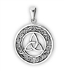 Sterling Silver Celtic Triquetra Pendant with Circular Weave