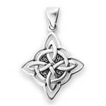 Sterling Silver Celtic Knot With Triquetras Pendant