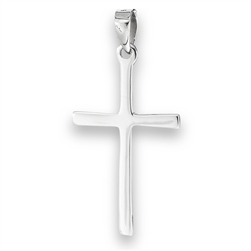 Sterling Silver High Polish Cross Pendant