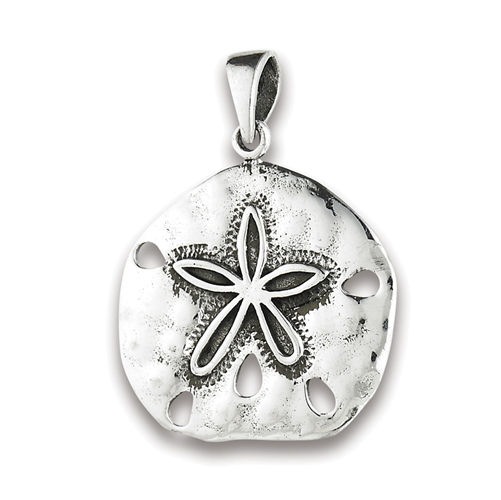 Silver sand dollar pendant sterling silver sand dollar pendant aloadofball Image collections