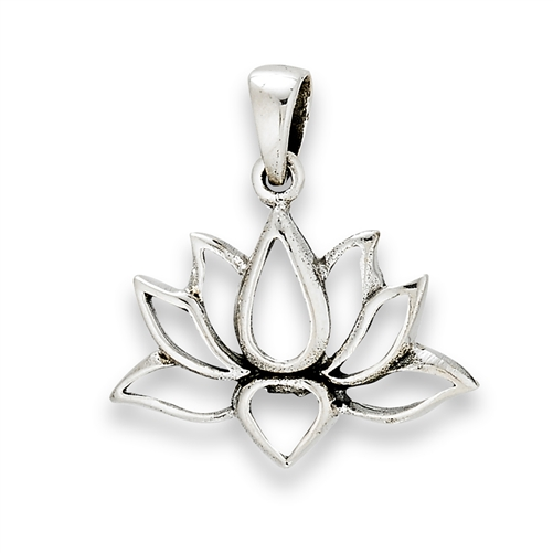 Silver lotus pendant sterling silver lotus pendant audiocablefo