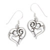 Sterling Silver Parent And Child Heart Earring