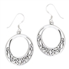 Sterling Silver Round Interwoven Celtic Earring