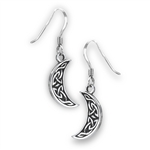 Sterling Silver Celtic Half Moon Earrings