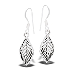 Sterling Silver Dangle Leaf Earring