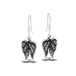 Sterling Silver Angel Wings Earring