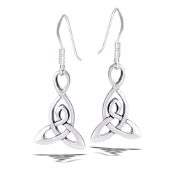 Sterling Silver High Polish Triquetra Dangle Earring