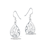 Sterling Silver Filigree Teardrop Earring