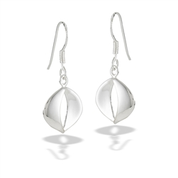 Sterling Silver High Polish Modern Design Earring