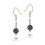 Sterling Silver Grey Pearl Earring With Mini Balls